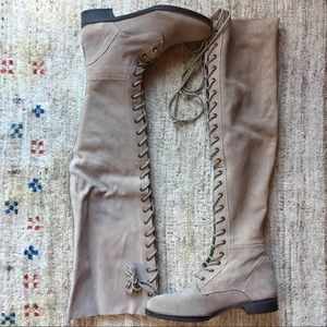 Free People Tennessee Lace Up Boots Grey Size 41